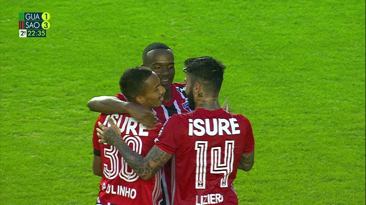 Os gols de Guarani 1 x 3 São Paulo pela 12ª rodada do Paulistão 2020