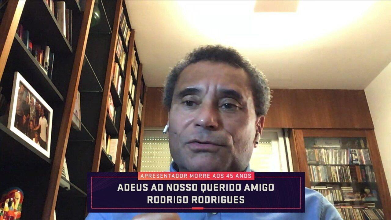 """Paulo César Vasconcelos destaca vocação de Rodrigo Rodrigues para entretenimento: """"Conduzia conversa com leveza e informação"""""""