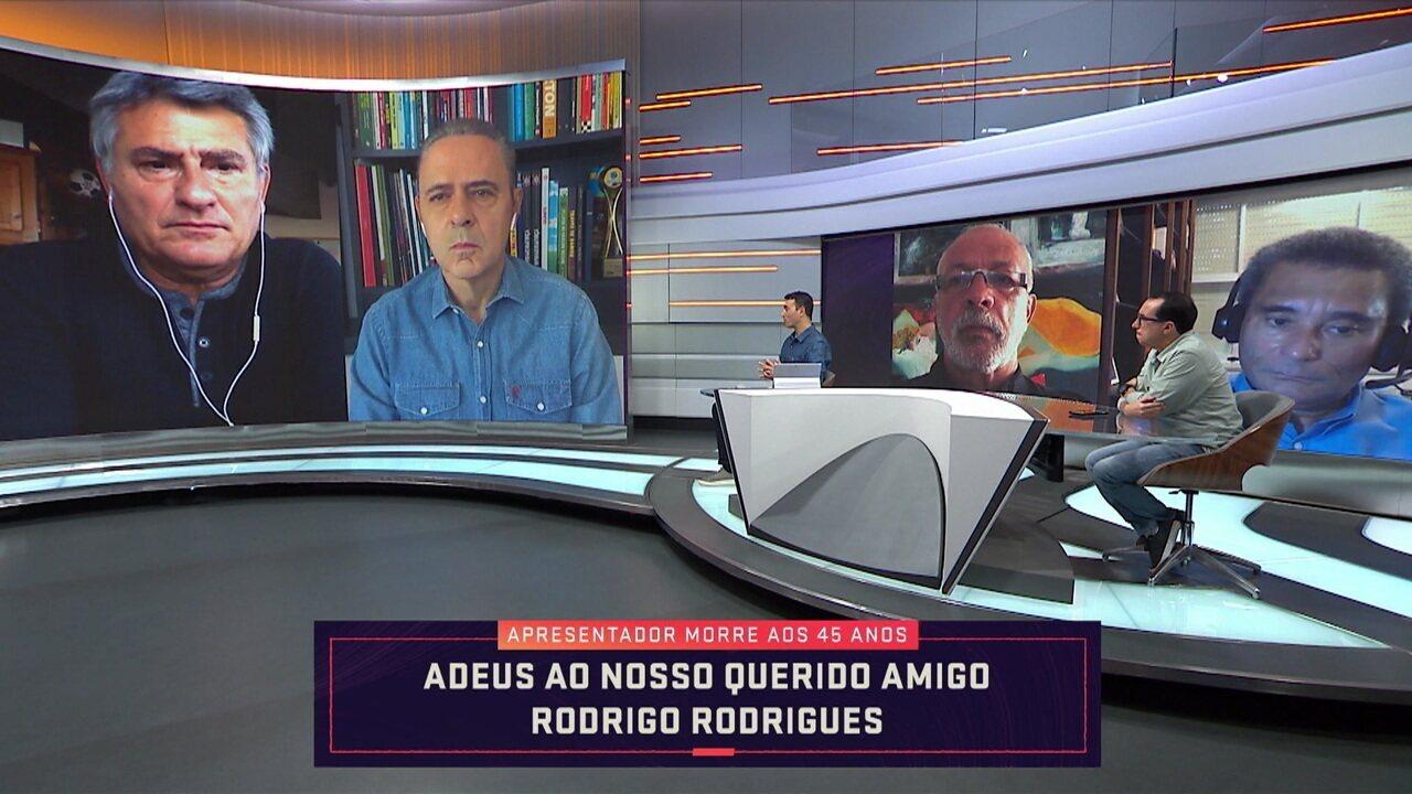Cléber Machado e Luís Roberto destacam momentos vividos com Rodrigo Rodrigues