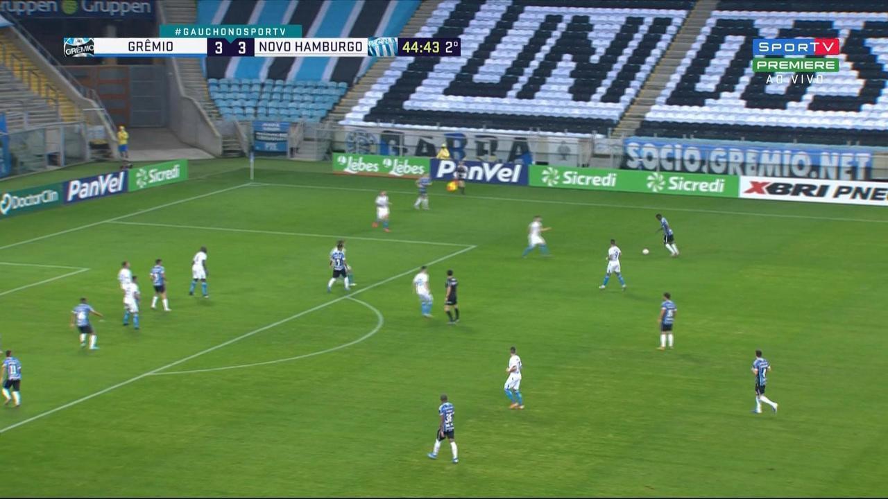Veja gol decisivo de Luciano pelo Grêmio em semifinal contra o Novo Hamburgo