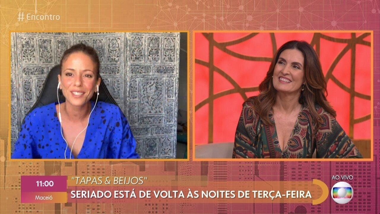 Fernanda de Freitas relembra 'Tapas & Beijos' e fala da saudade de Flávio Migliaccio