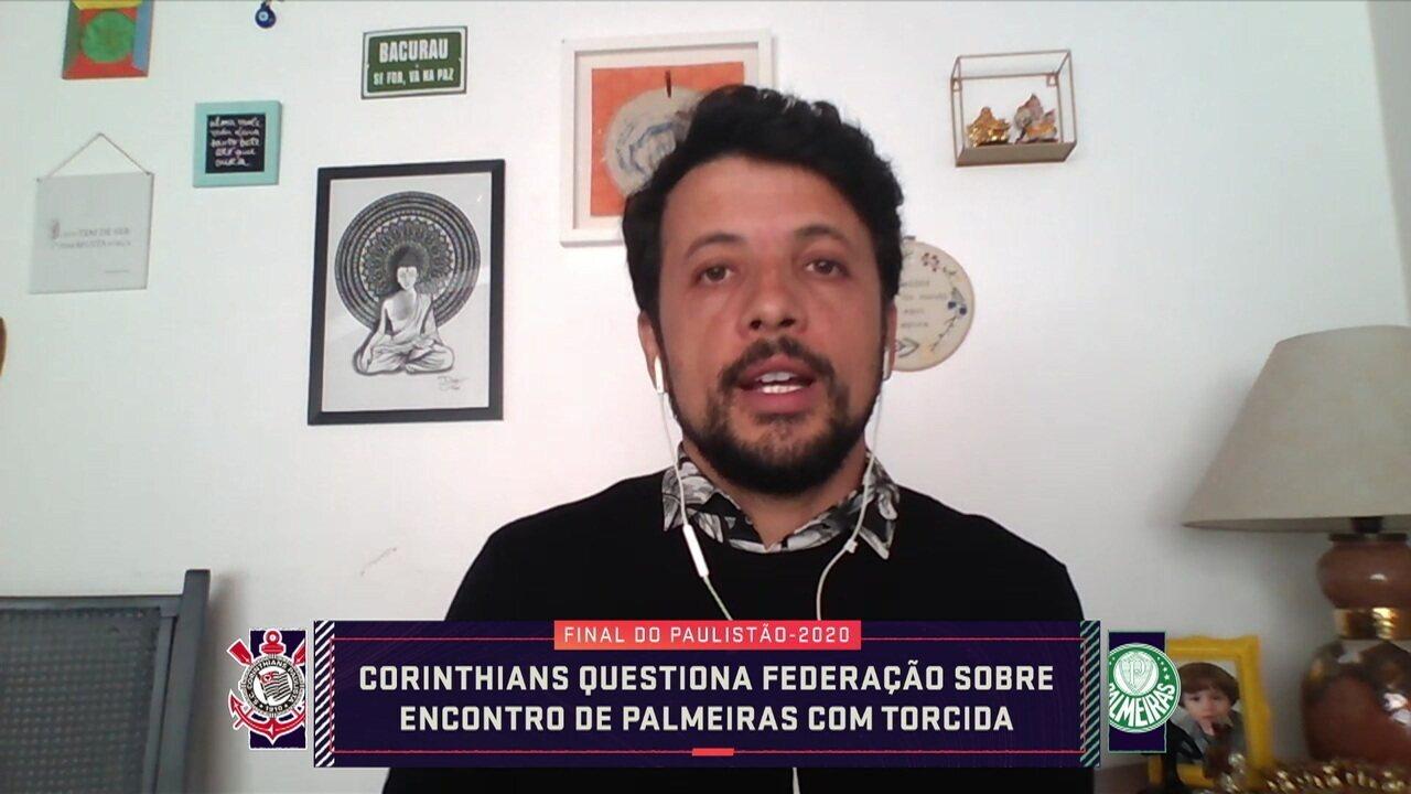 Corinthians questiona FPF sobre reunião do Palmeiras com torcida organizada