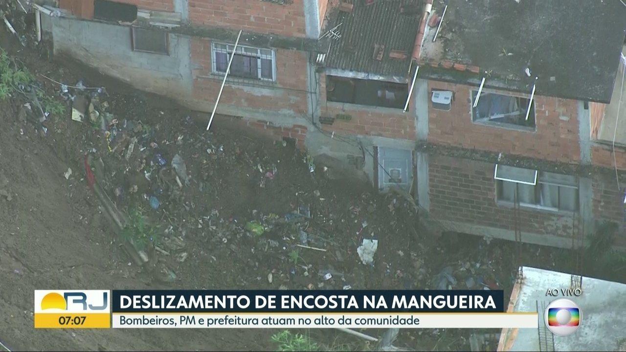 Deslizamento na Mangueira pode ter sido causado por estouro de tubulação de água