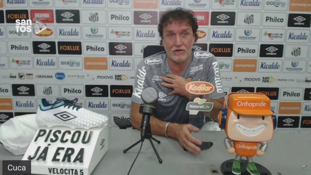 Confira a coletiva de apresentação do técnico Cuca no Santos