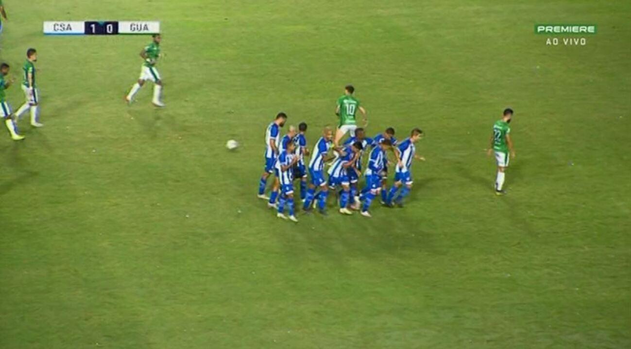 Veja os melhores momentos de CSA 1 x 0 Guarani, pela 1ª rodada do Brasileirão Série B