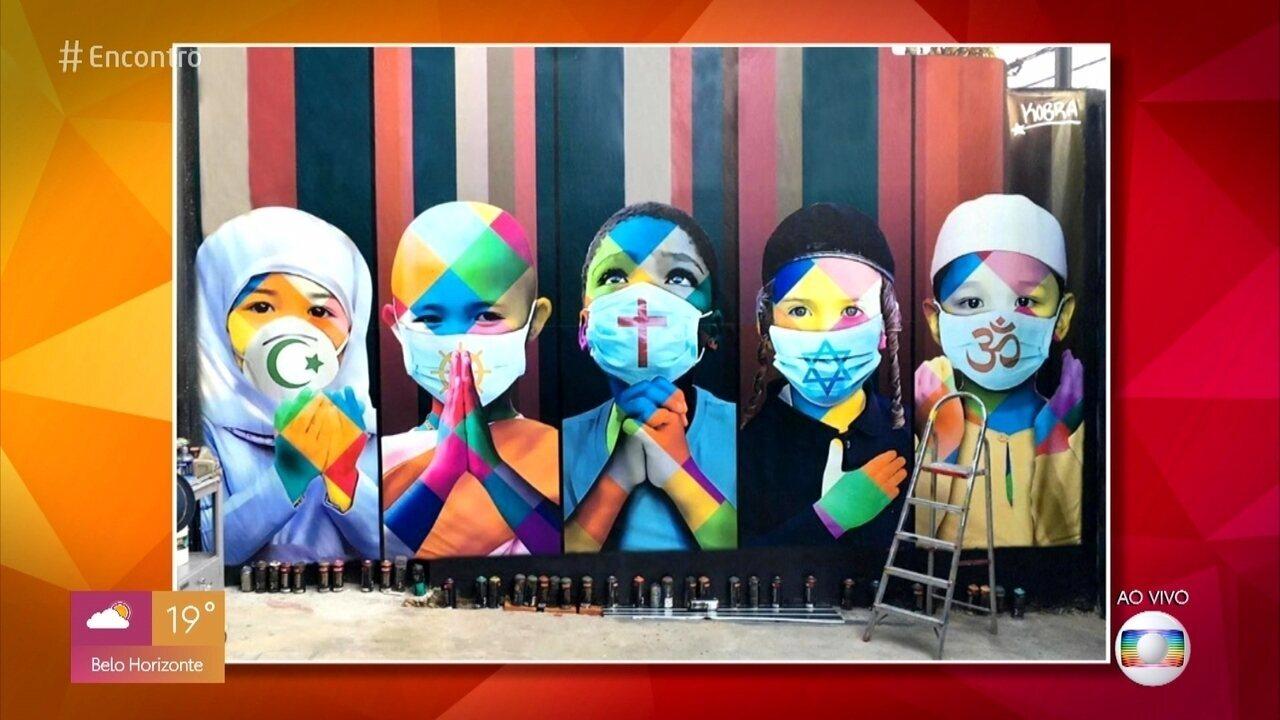 Eduardo Kobra é um dos artistas brasileiros mais respeitados no mundo todo