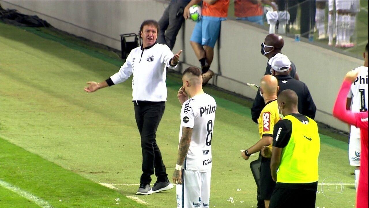 Brasileirão: na reestreia de Cuca, Santos fica no empate com o Bragantino