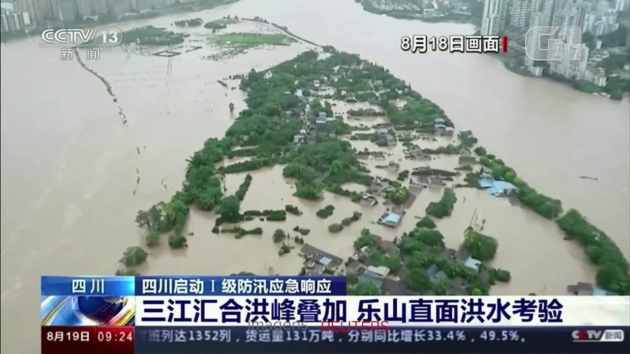Inundações no sudoeste da China causam evacuação de moradores