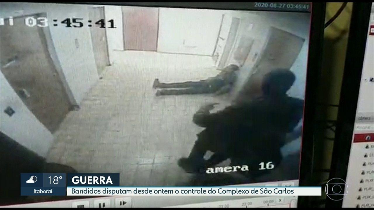 Bandidos disputam desde a quarta-feira (26) o controle do Complexo do São Carlos