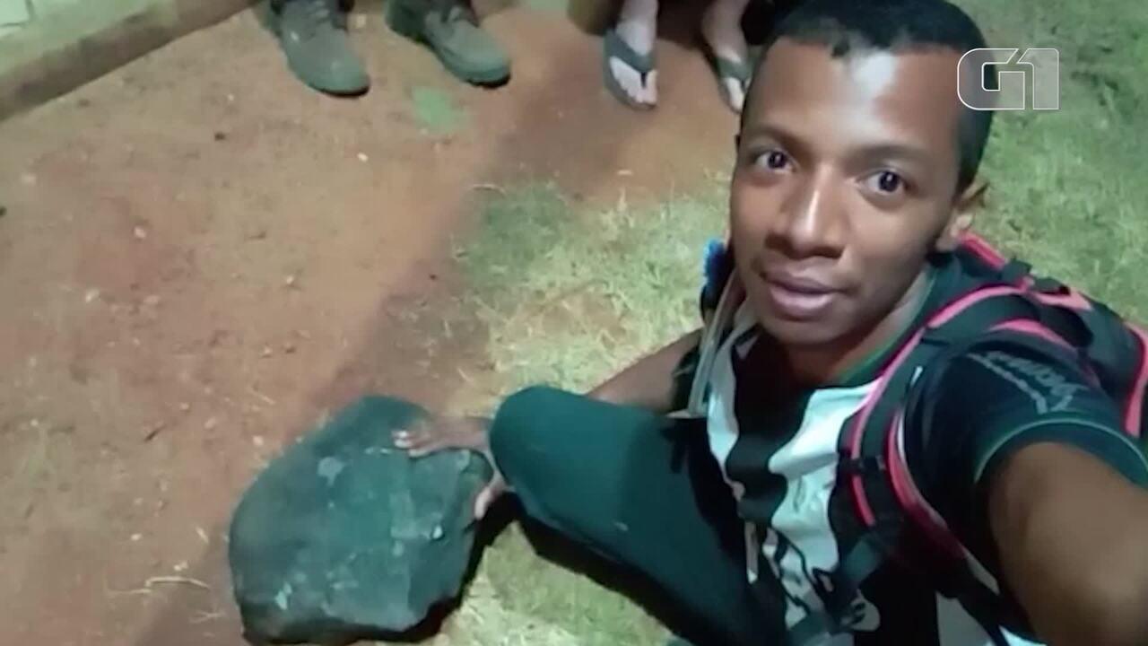 Morador de Santa Filomena mostra meteorito de quase 40kg  - Arquivo Pessoal - Flávio Filó