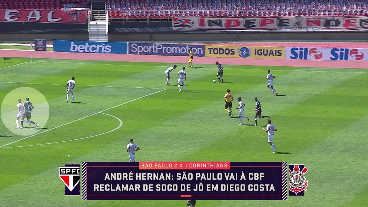 São Paulo vai à CBF reclamar de soco de Jô em Diego Costa