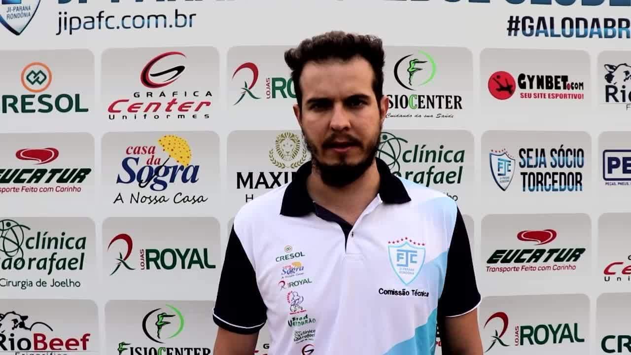 Técnico Bruno Monteiro, do Ji-Paraná, comenta sobre o jogo e sobre a preparação para volta
