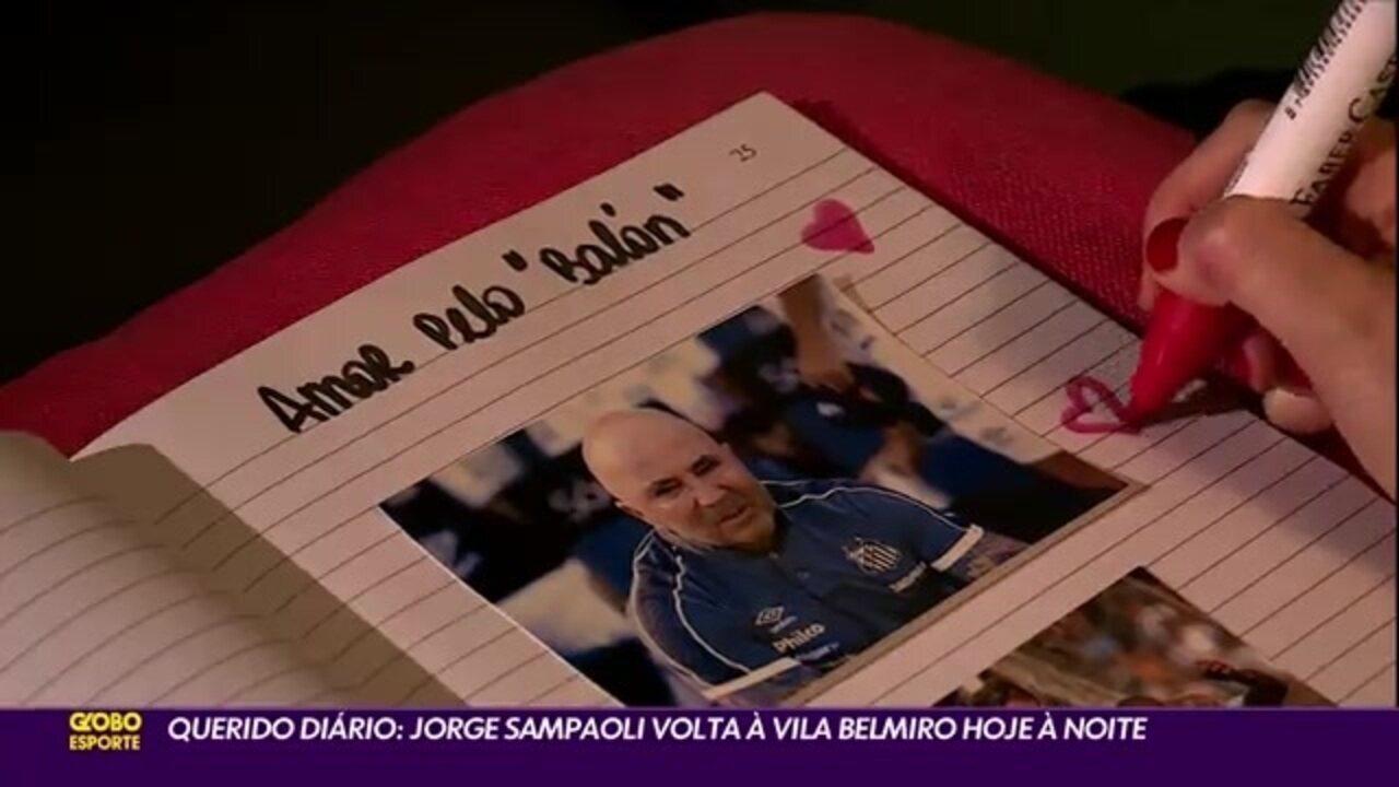 Querido Diário... Sampaoli volta à casa do Santos nesta quarta à noite