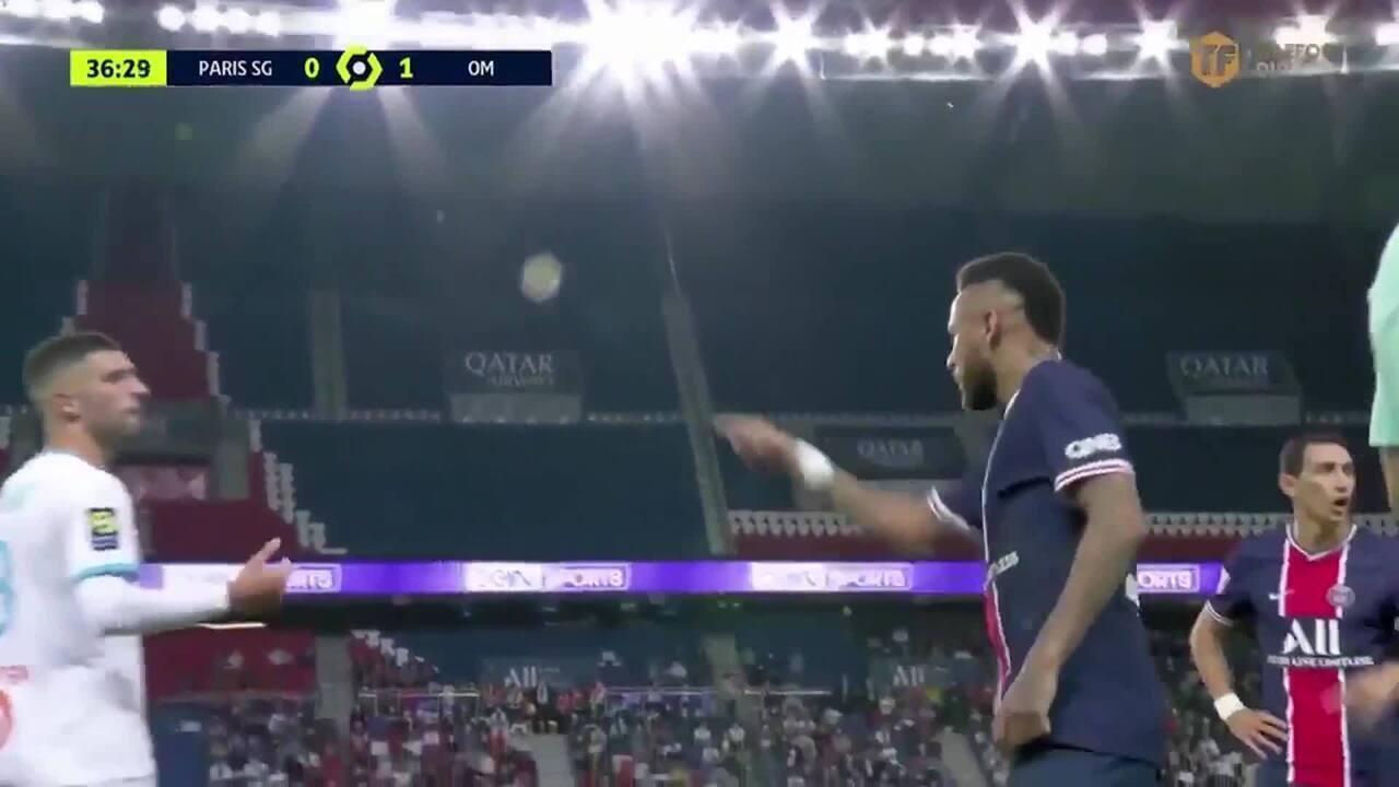 Expulsão e acusação de Neymar de racismo contra Álvaro González, do Olympique de Marselha