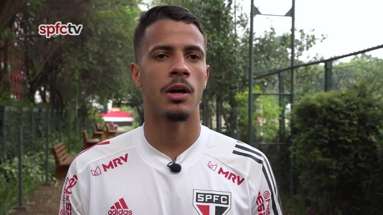 Diego, do São Paulo, fala sobre o jogo contra o River Plate e a volta da Libertadores
