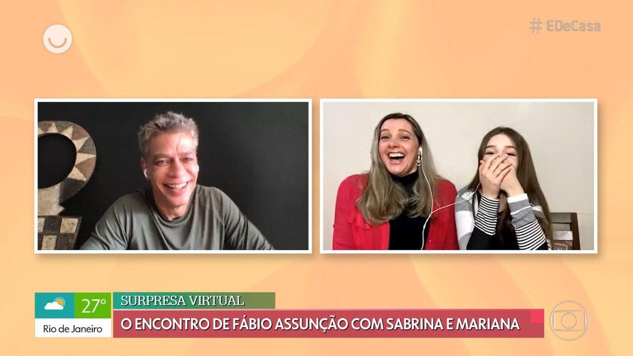 Fábio Assunção faz surpresa após filha postar foto da mãe aos 15 anos com ele 9h50
