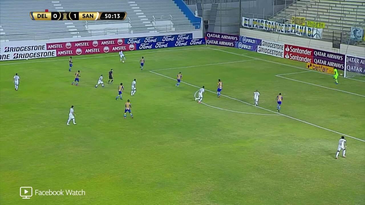 Melhores momentos de Delfín 1 x 2 Santos, pela 4ª rodada da Taça Libertadores