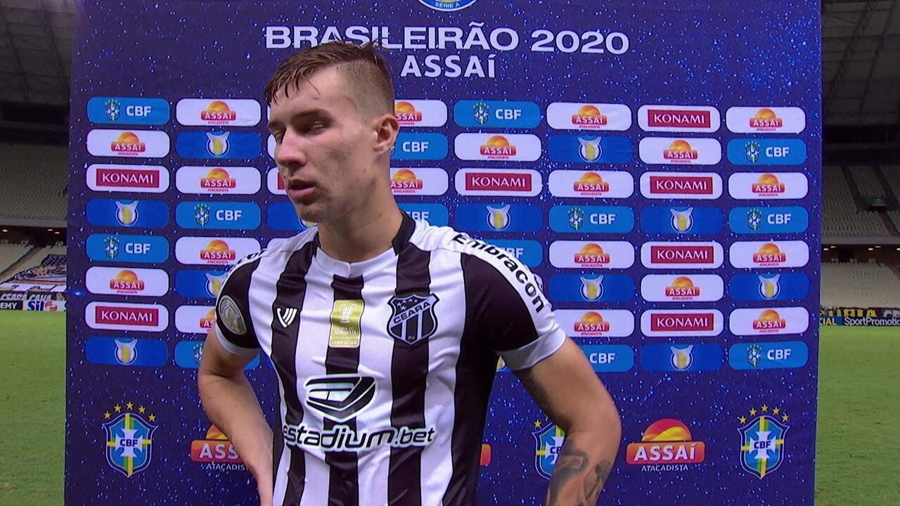 Confira a entrevista de Charles, pós Ceará 2 x 2 Goiás