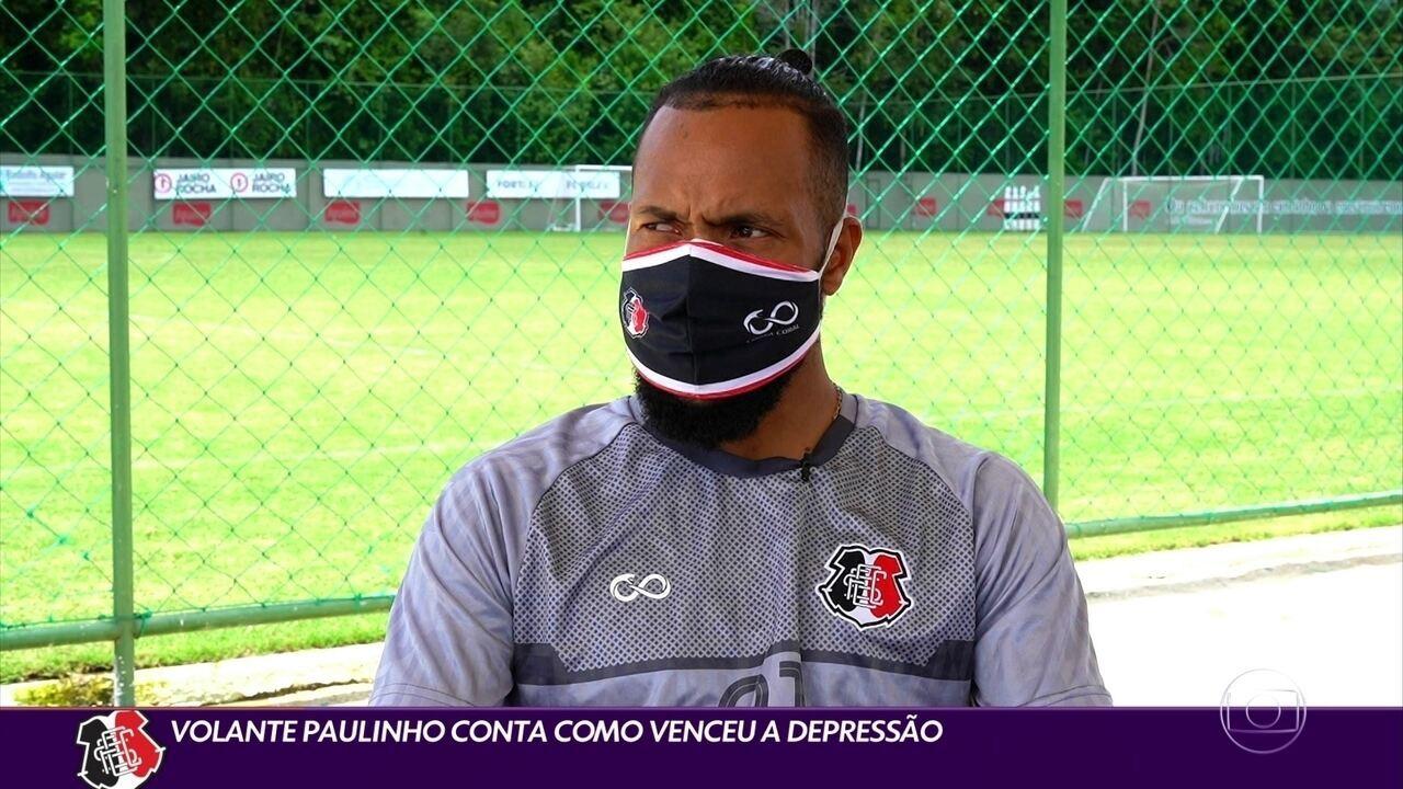 Destaque no Santa Cruz, Paulinho relata como superou a depressão