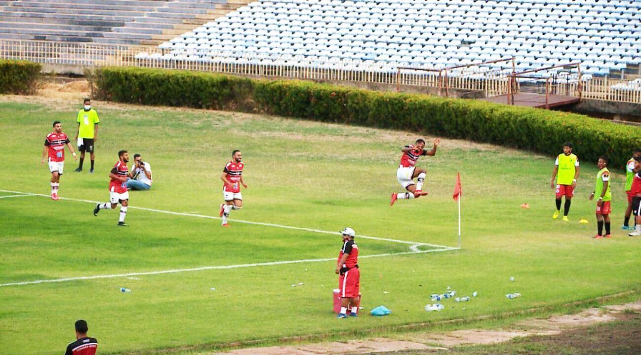 O gol de River-PI 1 x 0 Juventude Samas pela terceira rodada da Série D