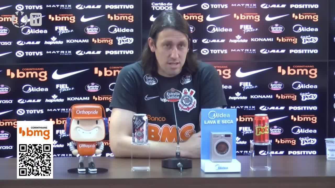 Veja como foi a entrevista do goleiro Cássio, do Corinthians, nesta terça-feira
