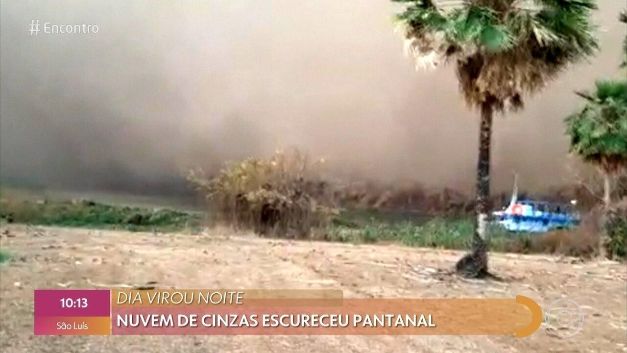 Nuvem de cinzas assusta moradores do Pantanal