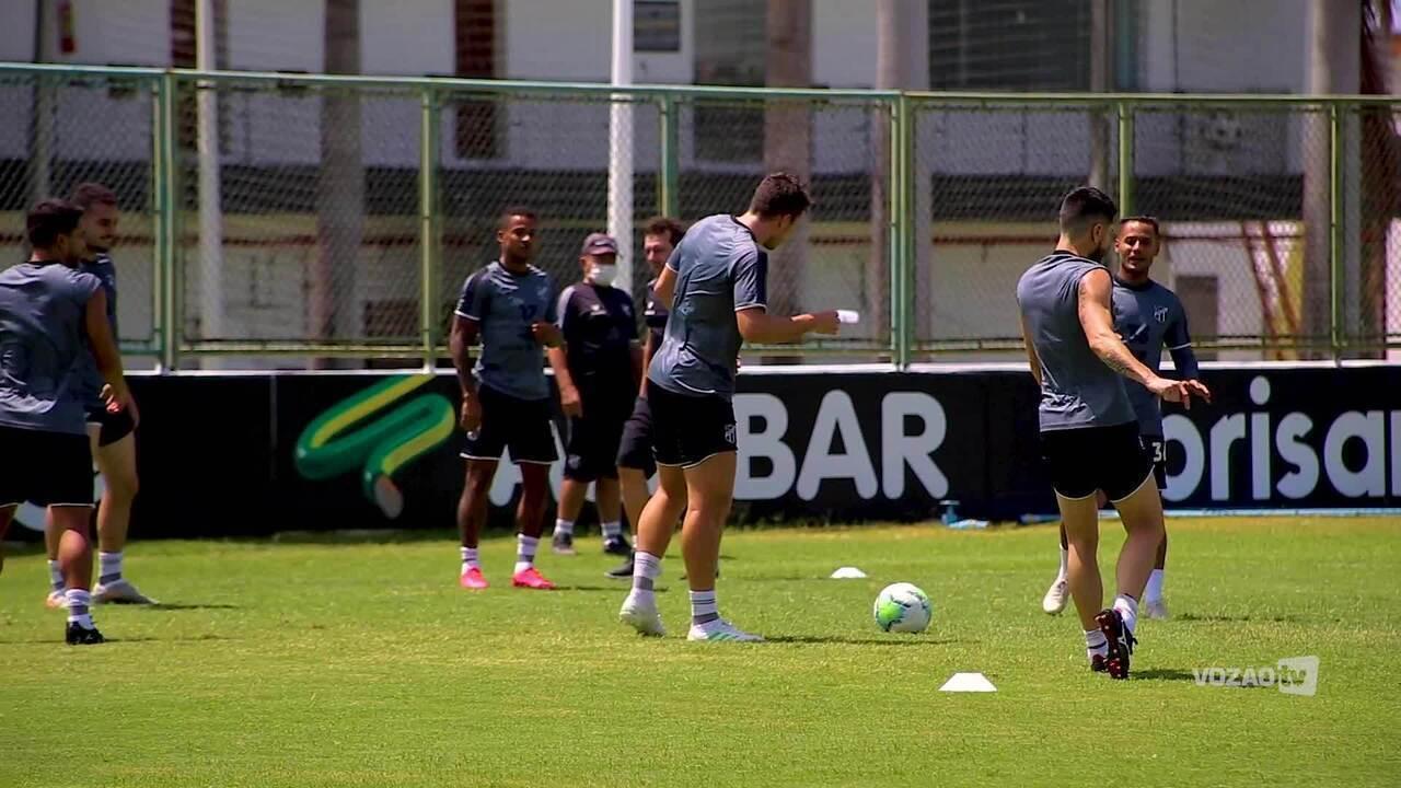 Ceará encerra preparação para duelo com Fluminense