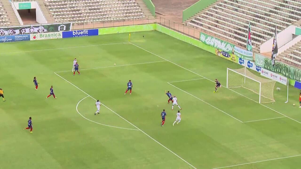 Os gols de Gama 3 x 0 Bahia de Feira, pela Série D do Brasileirão