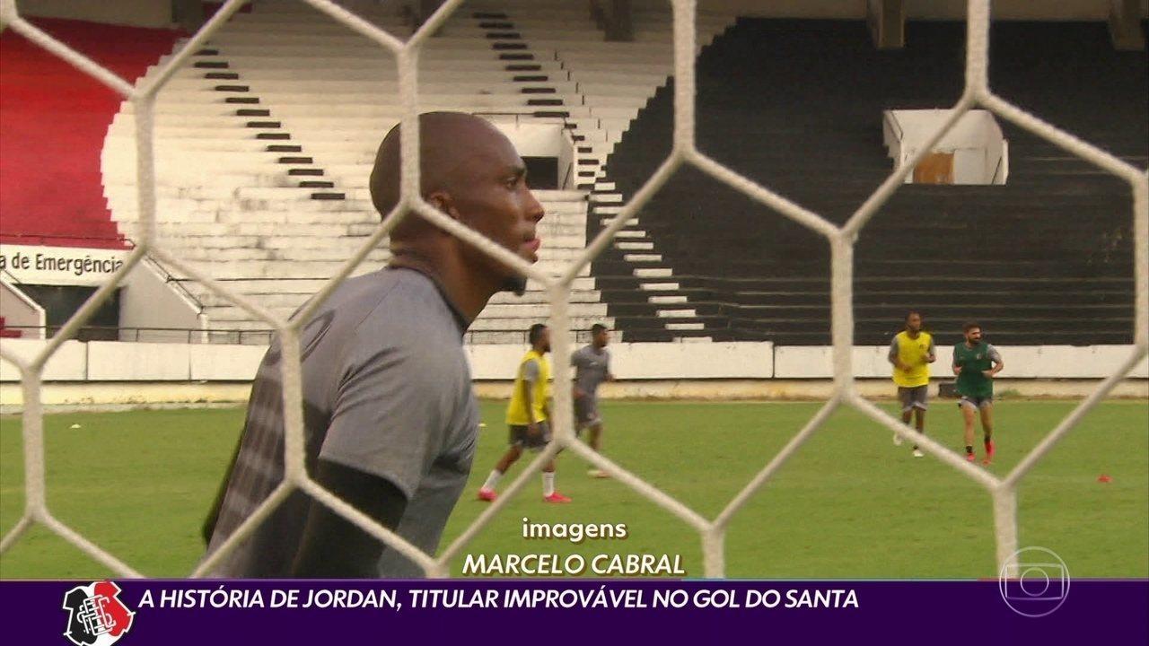 De quarto goleiro a titular do Santa Cruz: conheça a história de Jordan