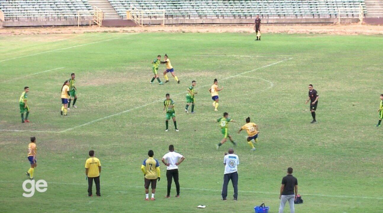 Os gols de Tiradentes-PI 3 x 2 Atlético-PI em amistoso do futebol feminino