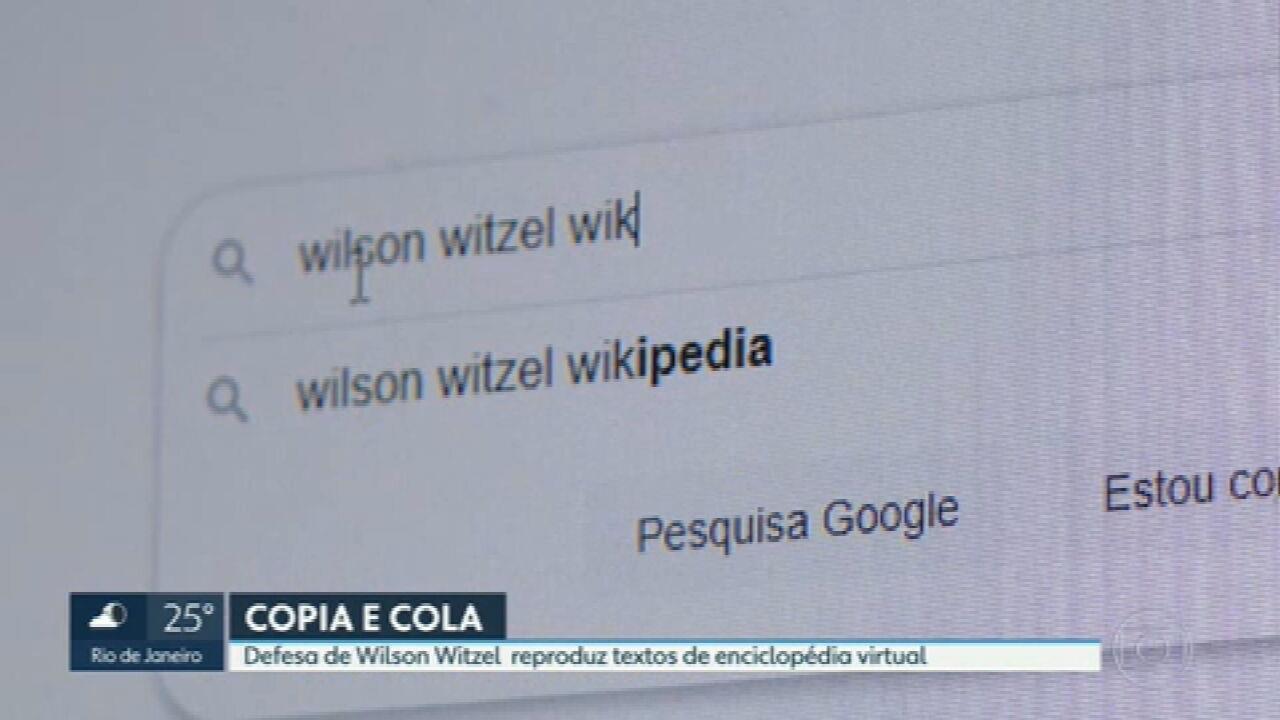 Documento de defesa de Witzel tem cópias do perfil do governador afastado na Wikipédia