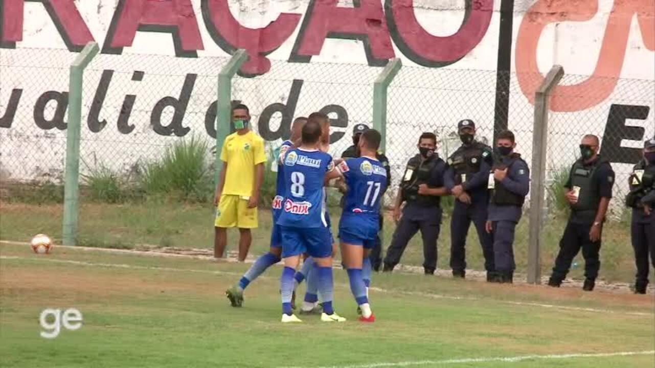 Os gols de Altos 2 x 1 Baré pela nona rodada da Série D