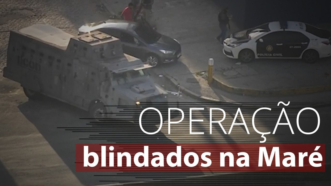 Com 5 blindados e 300 homens, polícia faz operação na Maré, no Rio