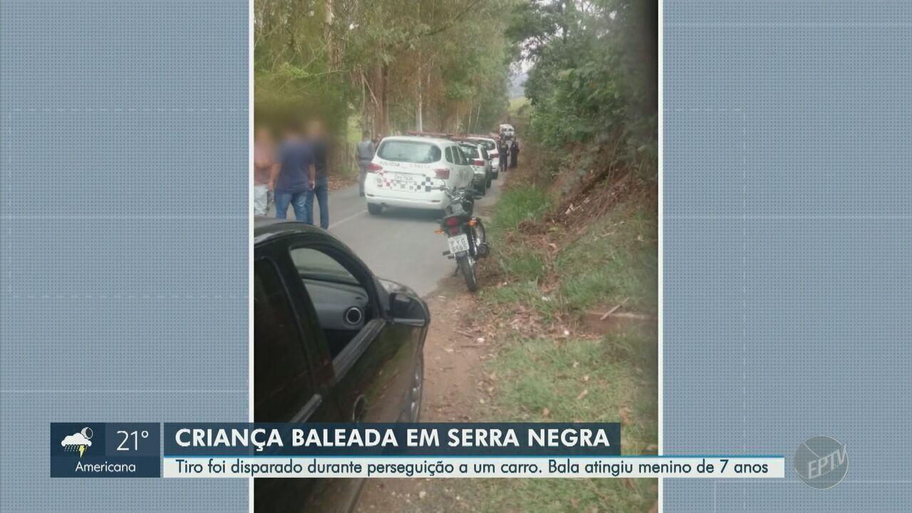 Criança é baleada em Serra Negra durante perseguição a carro usado em latrocínio