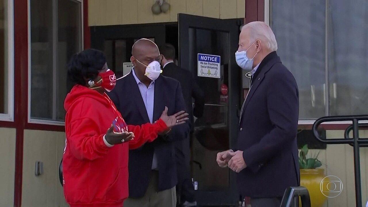 Joe Biden faz campanha até o meio da tarde em estado decisivo, no dia da eleição