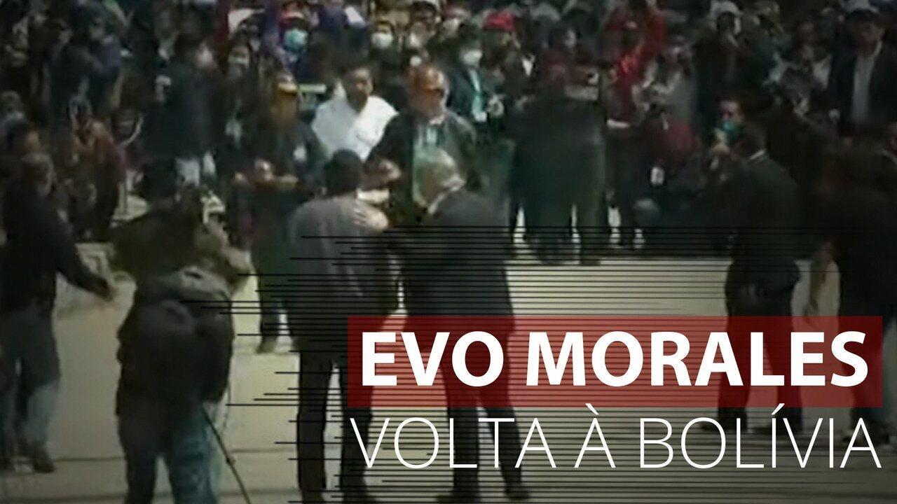 Evo Morales é recebido por multidão ao retornar à Bolívia