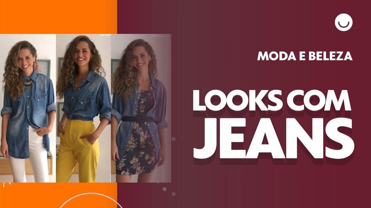 Camisa jeans: aprenda a montar três opções de looks usando a mesa peça