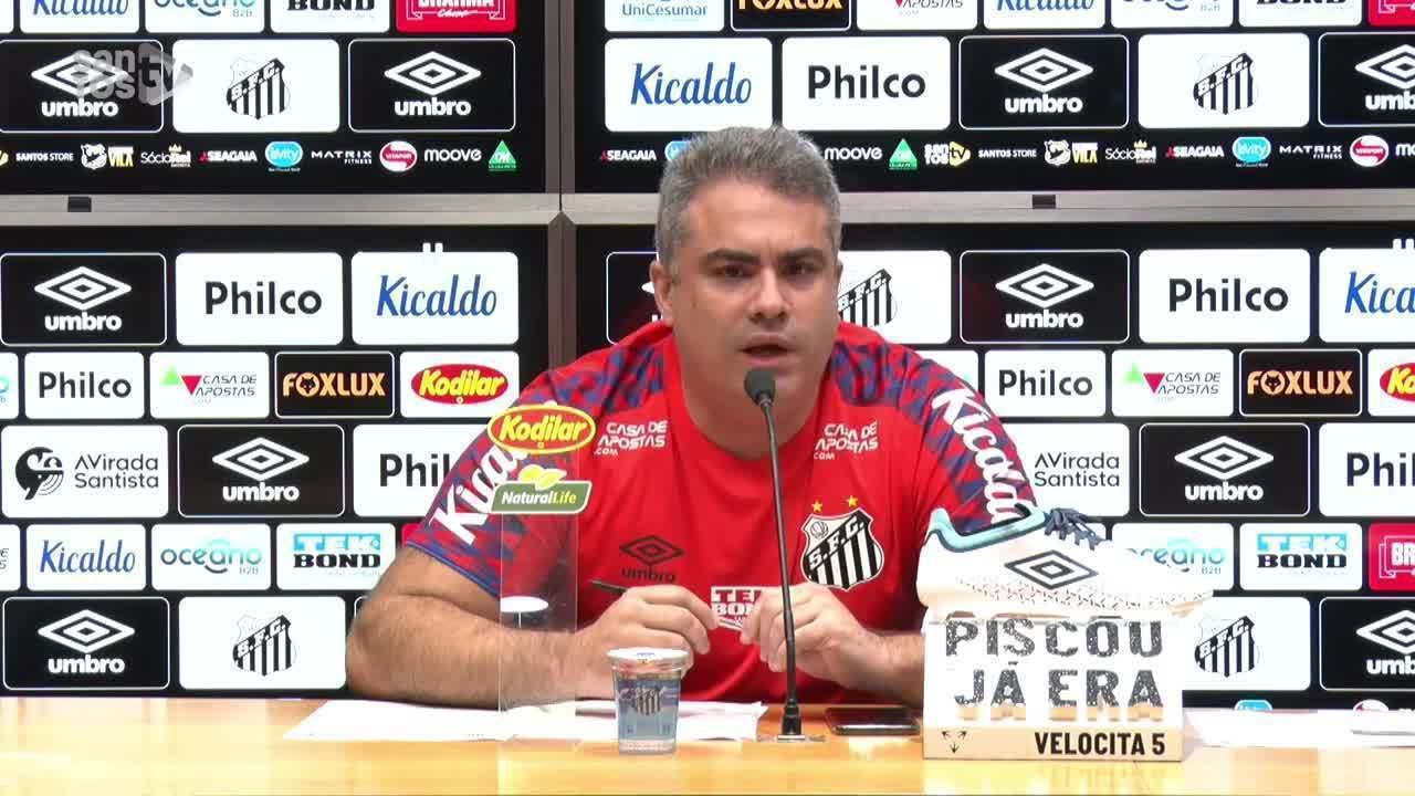 Veja a entrevista coletiva do presidente do Santos, Orlando Rollo