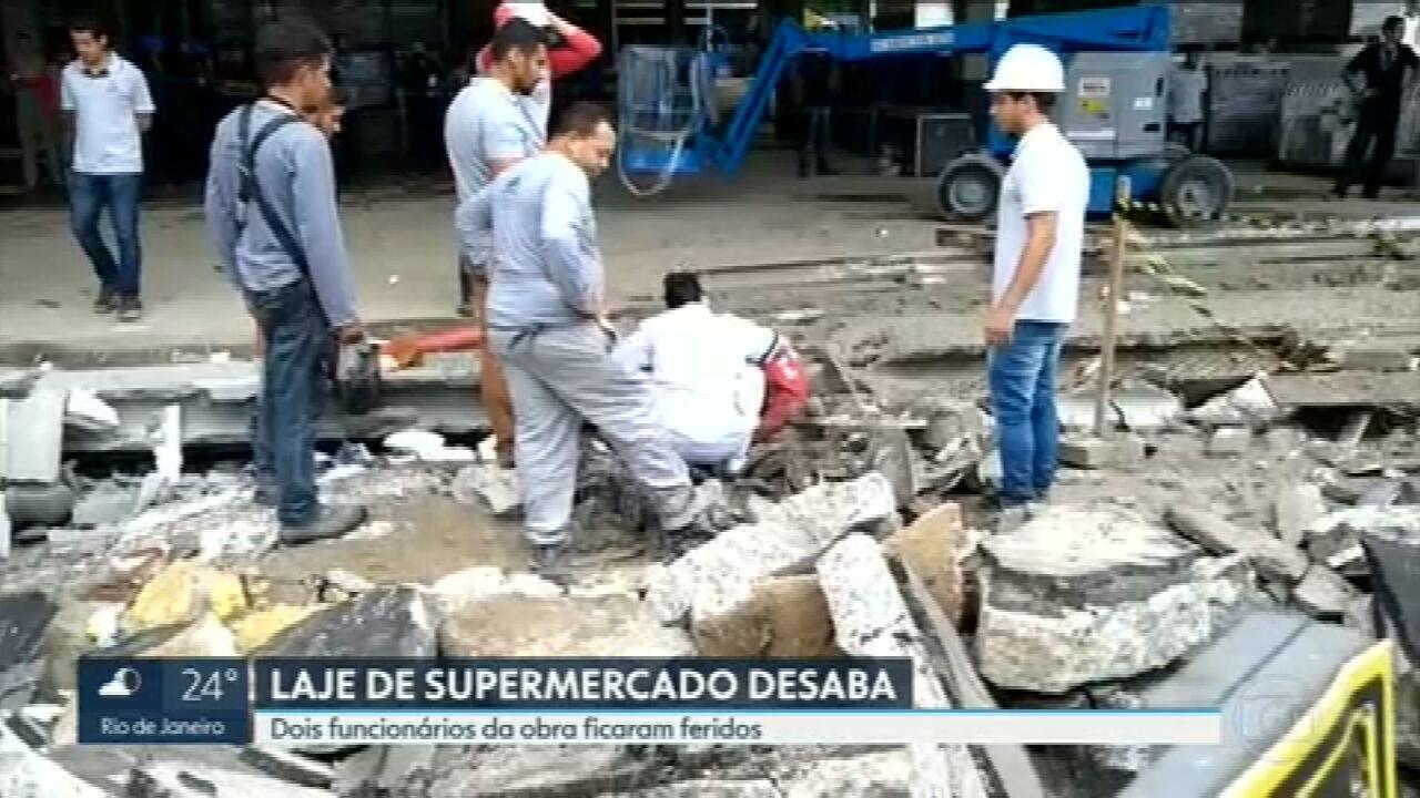 Laje de supermercado desaba em Campo Grande, na Zona Oeste