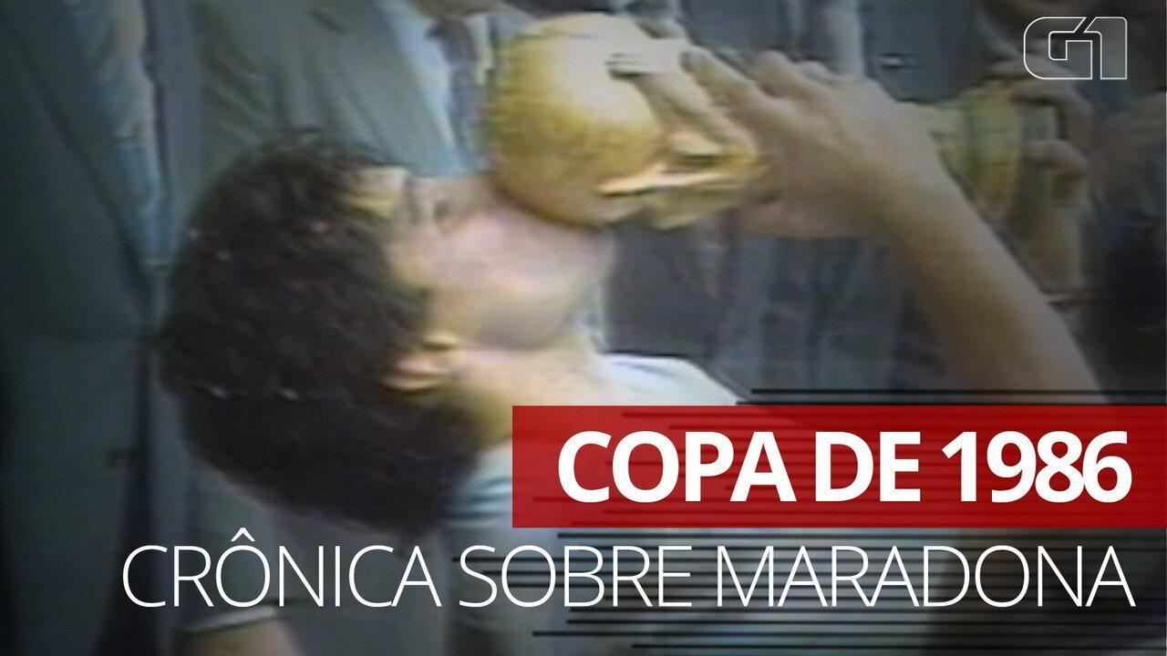 VÍDEO: crônica de Armando Nogueira sobre Maradona na Copa de 1986