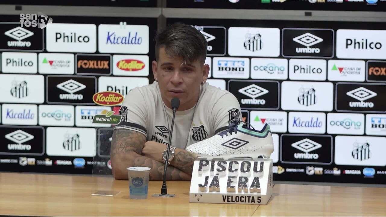 Confira a coletiva de Soteldo, após vitória do Santos em cima do Sport
