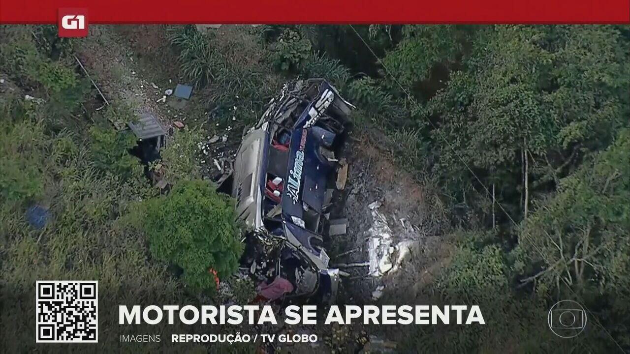 G1 em 1 minuto: Acidente de ônibus com 19 mortos em MG se apresenta à Polícia Civil