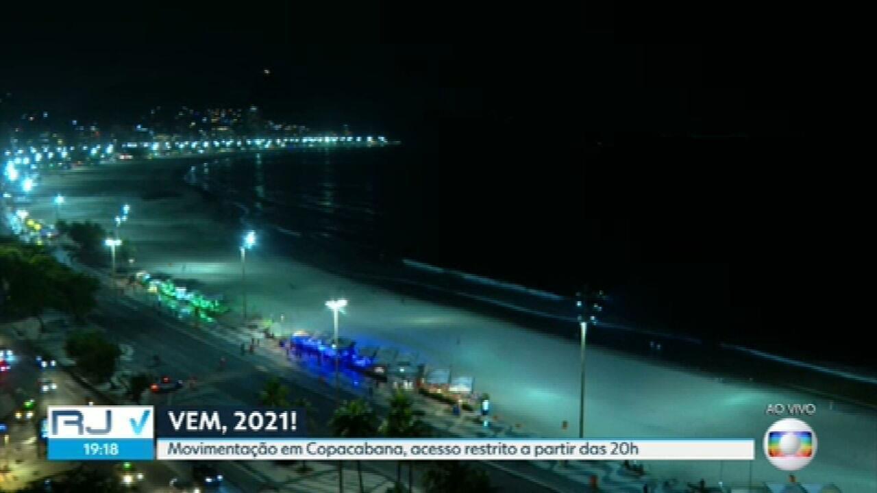 Sem fogos e shows, Copacabana se prepara para o réveillon