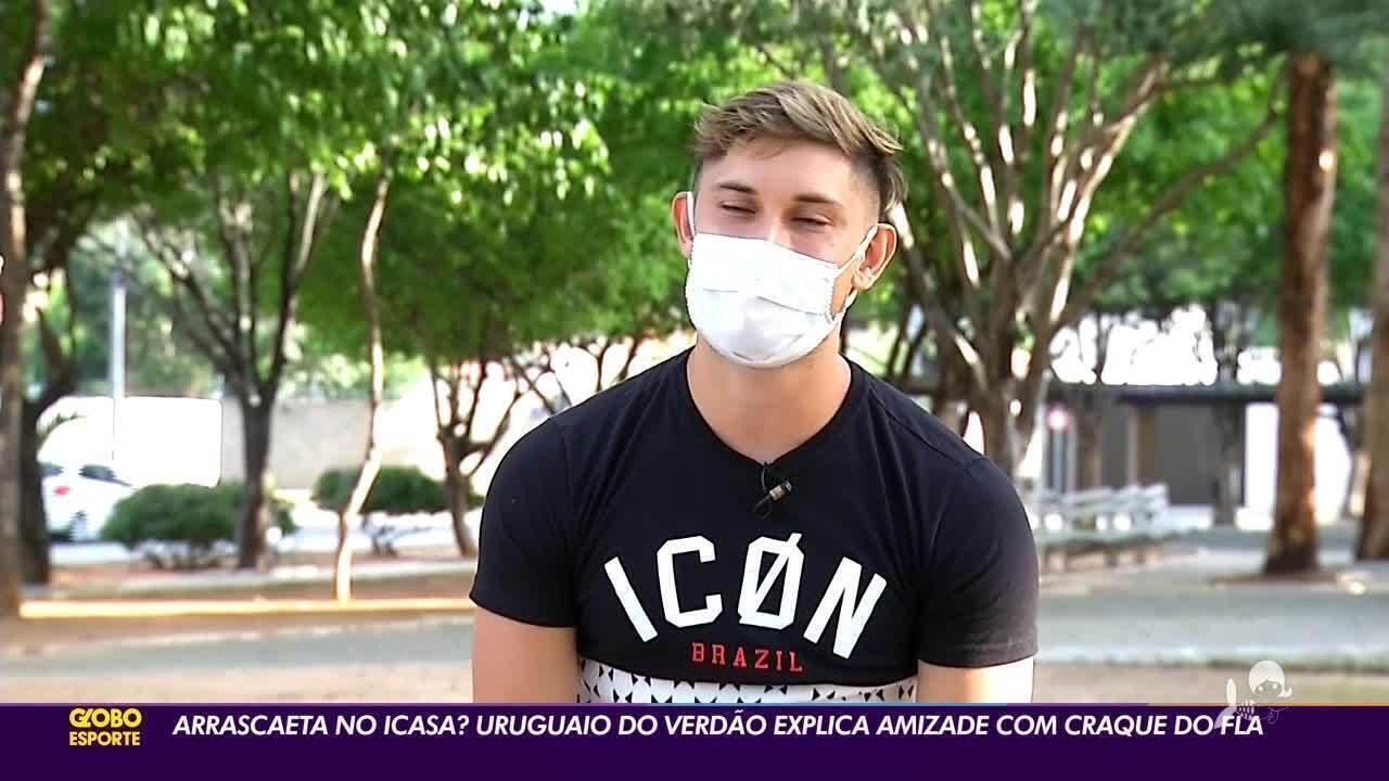 Arrascaeta do Icasa? Uruguaio do Verdão explica amizade com craque do Flamengo