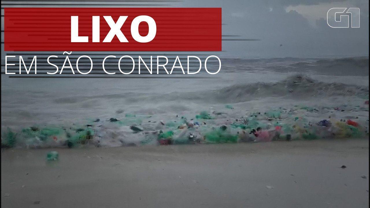 VÍDEO: Imagens mostram 'onda de lixo' na Praia de São Conrado