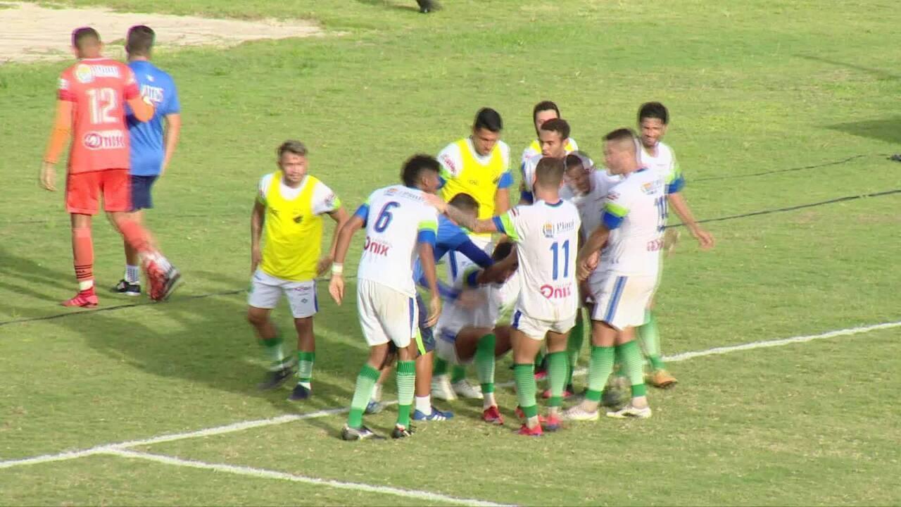 Os gols de Marcílio Dias 1 x 1 Altos pelo jogo de ida das quartas de final da Série D 2020