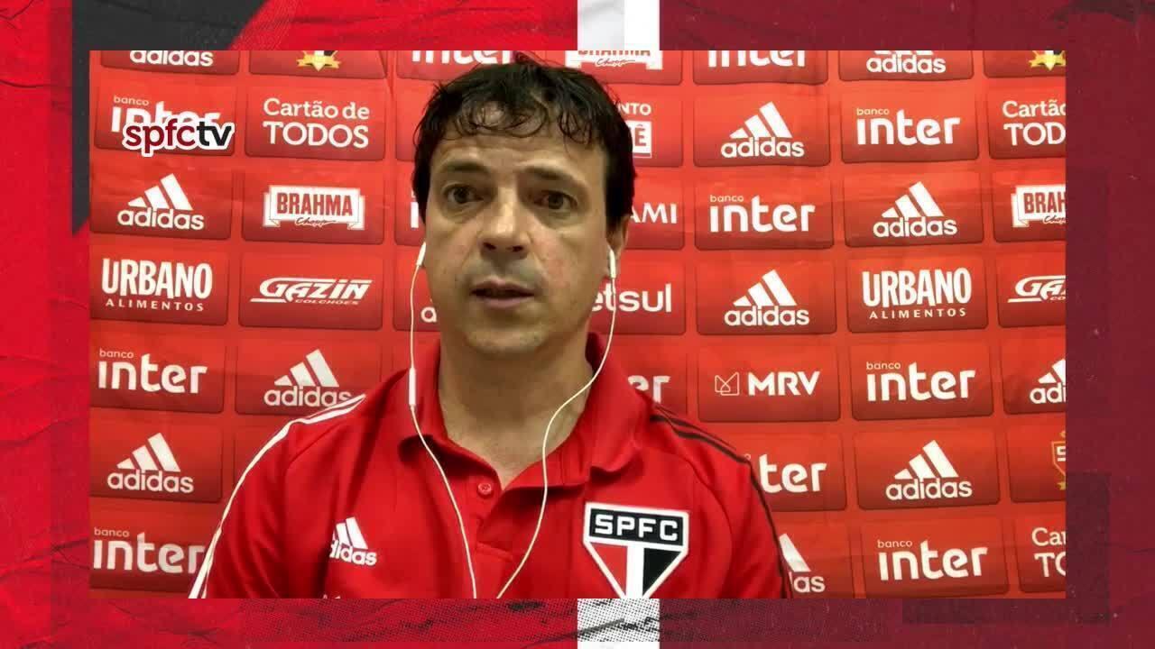 Veja a coletiva de Fernando Diniz, do São Paulo, após a derrota para o Bragantino