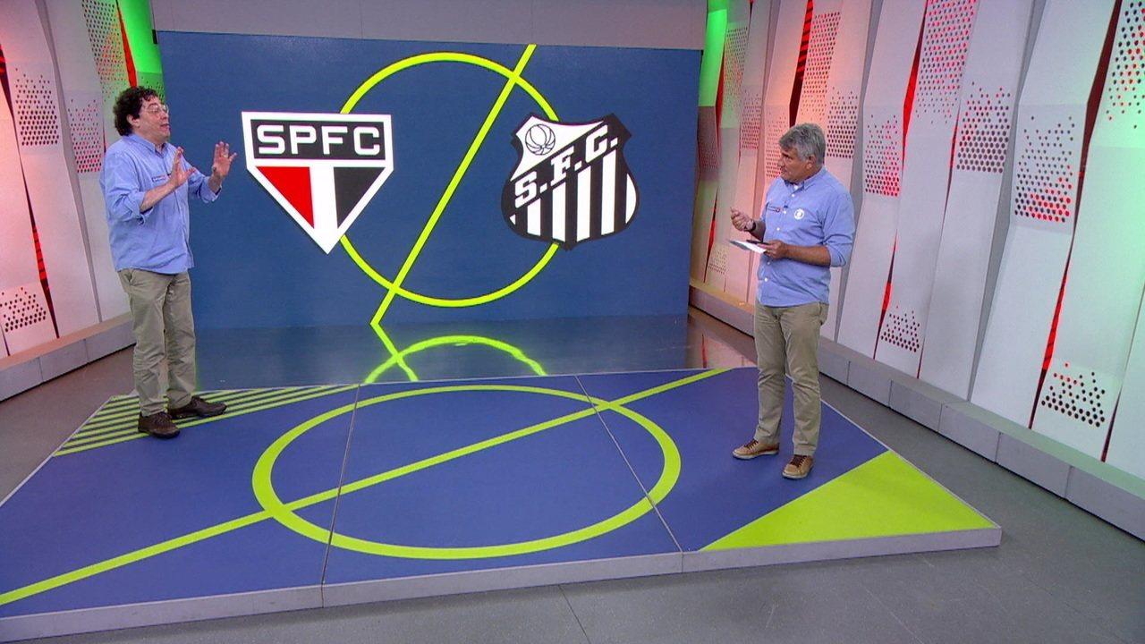Cleber Machado, Casagrande e Ricardinho analisam vitória do Santos em clássico contra o São Paulo
