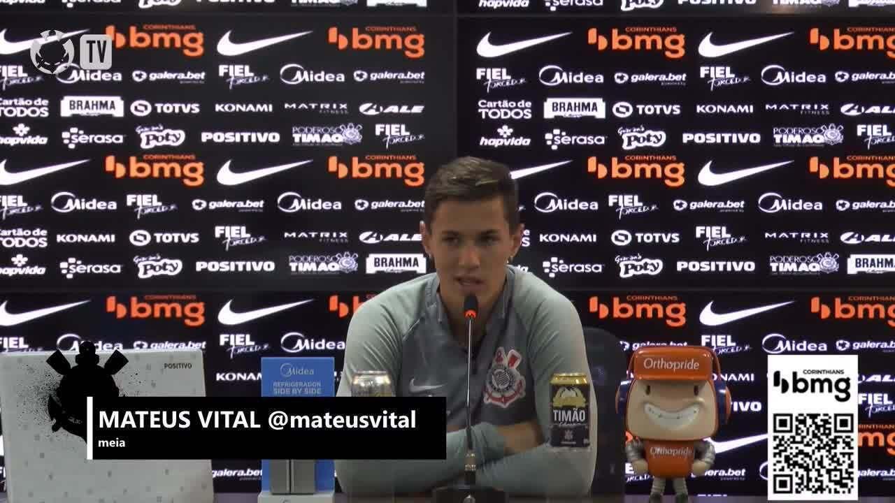 Veja a entrevista coletiva de Mateus Vital