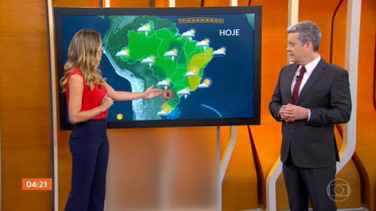 Meteorologia prevê chuva forte e risco de temporal em grande parte do Brasil nesta segunda (18)